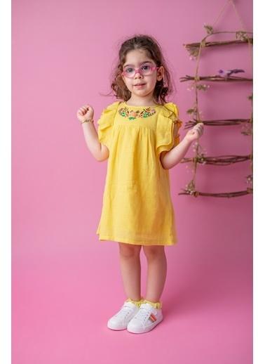 Mininio Sarı Flowers Nakışlı Elbise (9ay-4yaş) Sarı Flowers Nakışlı Elbise (9ay-4yaş) Sarı